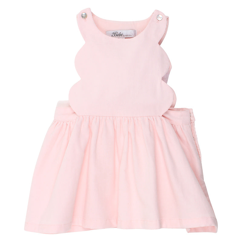 Bebe Amelia Scalloped Pinny Dress - Pink
