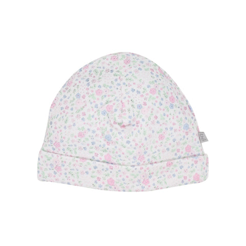 Bebe Annie Floral Beanie with Band - Floral Print