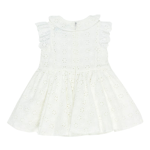 Bebe Betty Broiderie Dress in Cloud