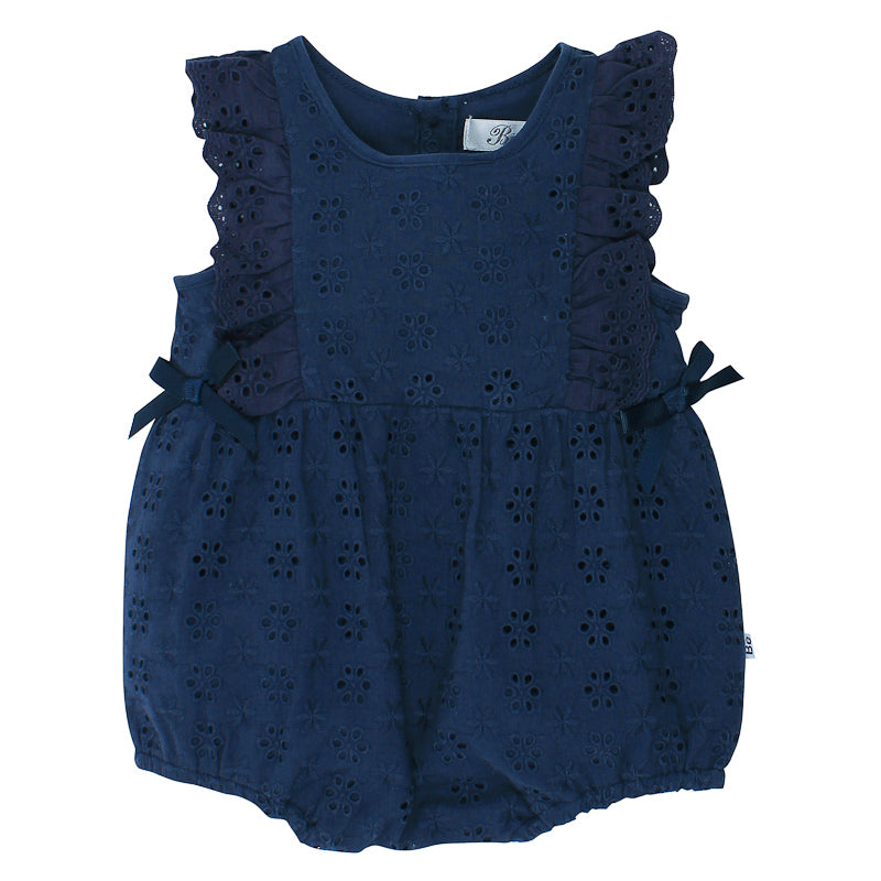 Bebe Betty Broiderie Romper - Navy Onesies Bebe - Little Styles