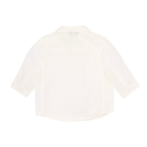 Bebe Charlie Long Sleeve Shirt - Ivory