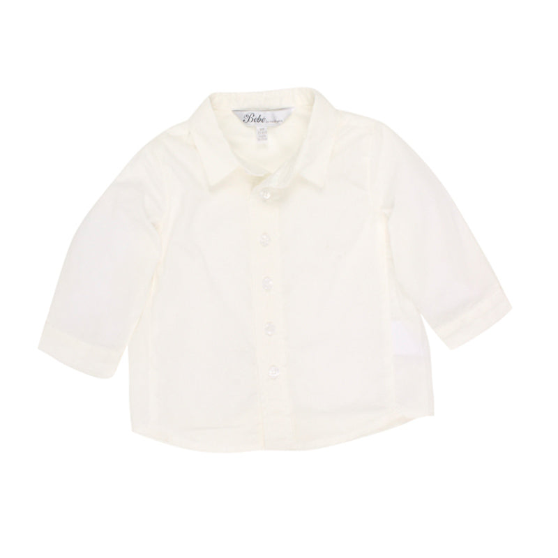 Bebe Charlie Long Sleeve Shirt - Ivory Special Occassion Bebe - Little Styles