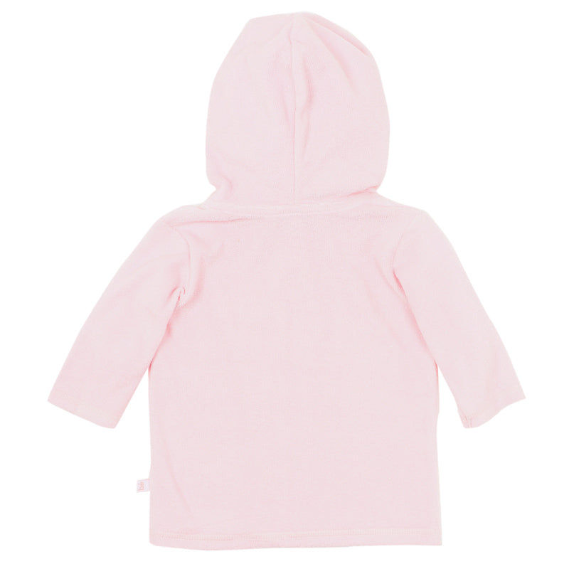 Bebe Emma Long Sleeve Zip Hooded Towel Jacket - Pink Angel Jumpers & Jackets Bebe - Little Styles