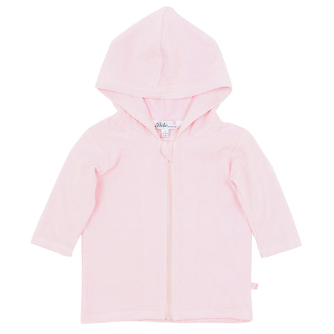 Bebe Emma Long Sleeve Zip Hooded Towel Jacket - Pink Angel