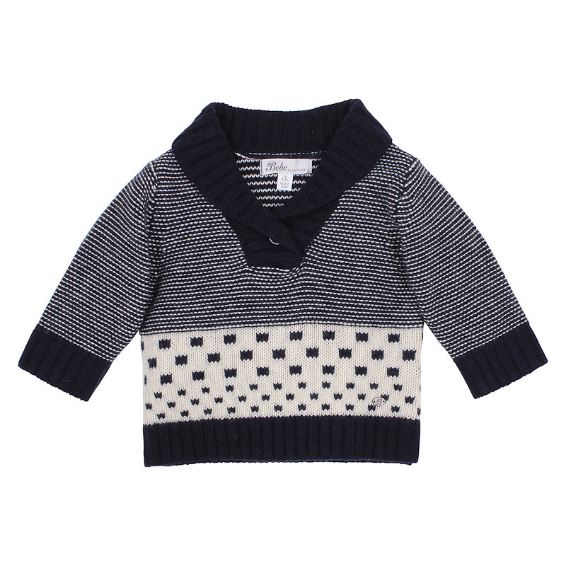 Bebe Hudson Stripe Jumper - Navy