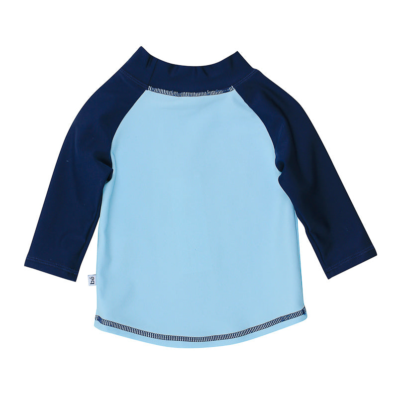 Bebe Jayce Long Sleeve Crab Print Rash Vest - Light Blue Swimwear Bebe - Little Styles