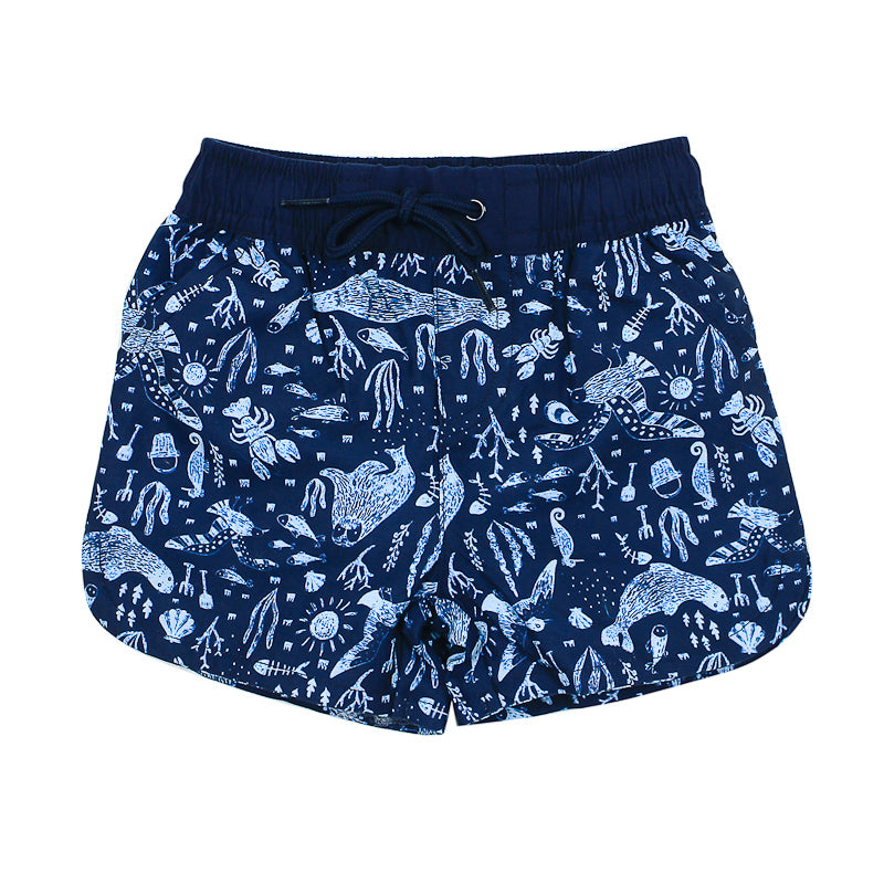 Bebe Jayce Printed Boys Swim Boardshort Swimwear Bebe - Little Styles