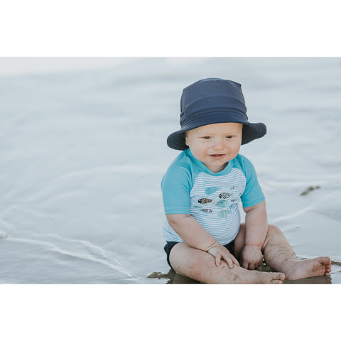 Bebe Jayce Swim Sun Hat - Royal Navy