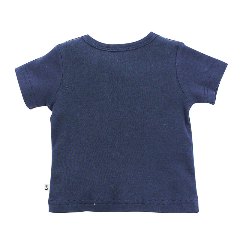 Bebe Leon Bottle Ocean Tee - Bright Navy Tops Bebe - Little Styles