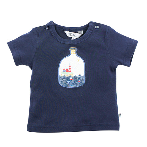 Bebe Leon Bottle Ocean Tee - Bright Navy