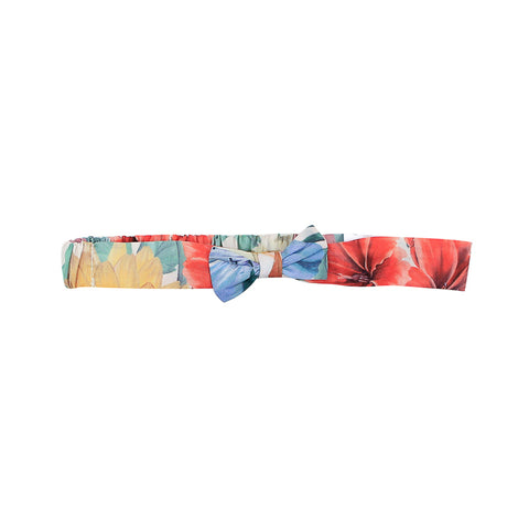 Bebe Liberty Headband With Bow - Meadow Mel Red floral