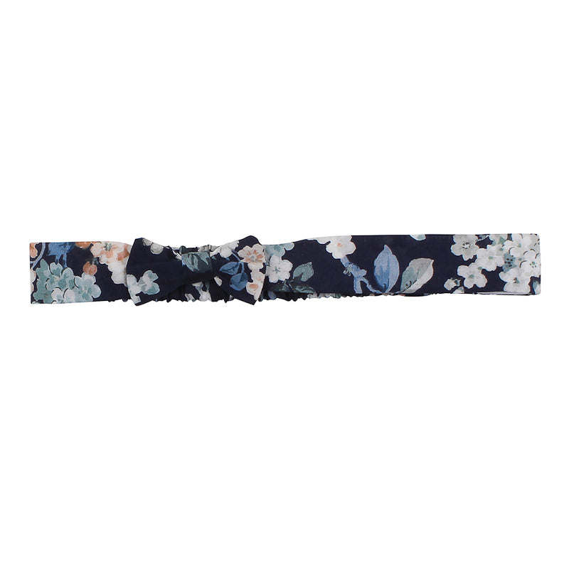 Bebe Gigi Floral Headband with Knot - White Flowers