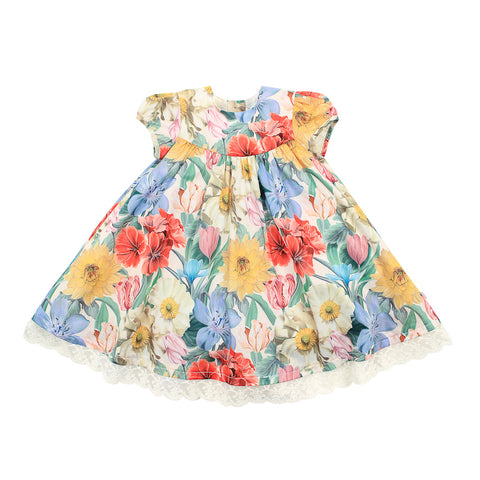 Bebe Liberty Short Sleeve Print Dress - Meadow Mel