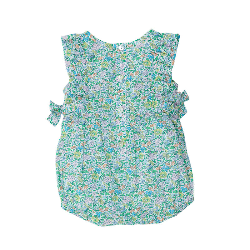 Bebe Liberty Woven Frill Romper with Bow - Favourite Onesies Bebe - Little Styles