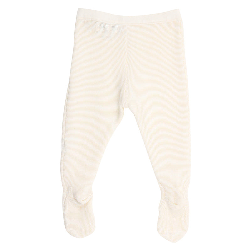 Bebe Mimi Knit Footed Legging - Cloud
