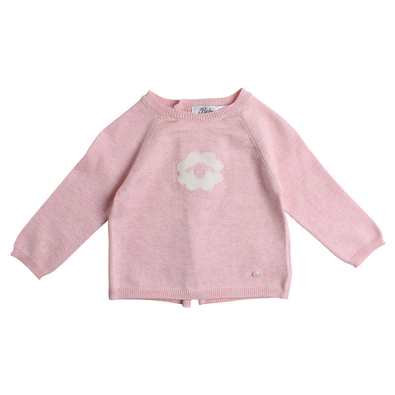 Bebe Mimi Knit Sheep Face Sweater - Pink