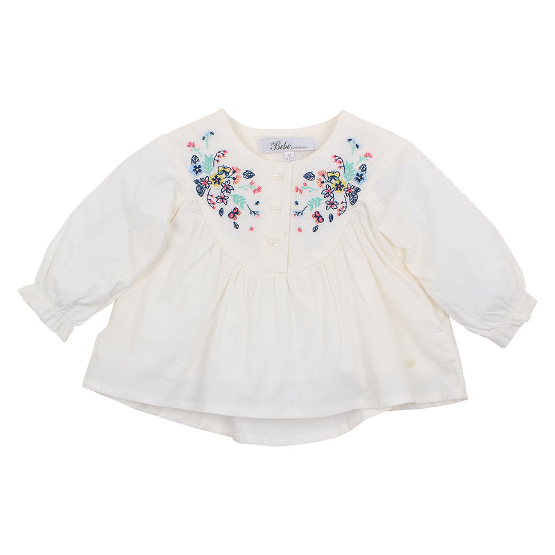Bebe Olivia Blouse - Cloud