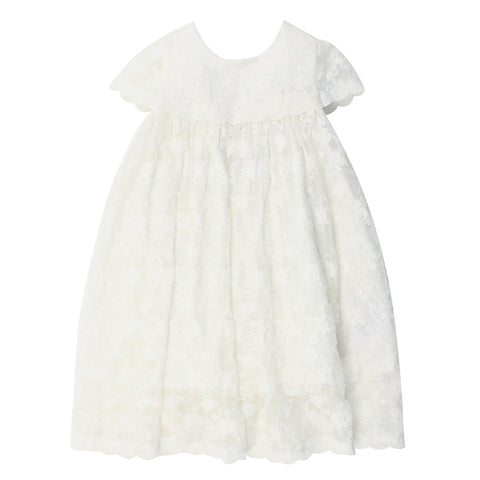 Bebe Short Sleeve Lace Dress - Ivory
