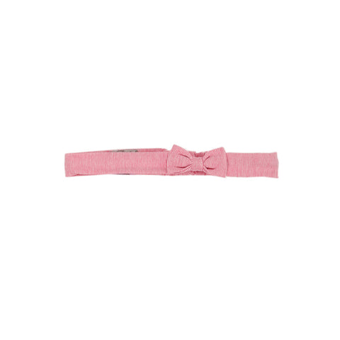 Bebe Tessa Headband with Bow - Tessa Pink Stripe