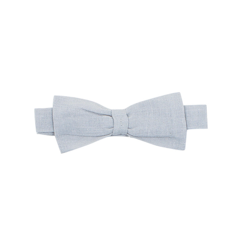 Bebe Theo Linen Bow Tie - Frost Grey Accessories Bebe - Little Styles