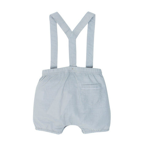 Bebe Theo Woven Overall - Frost Grey