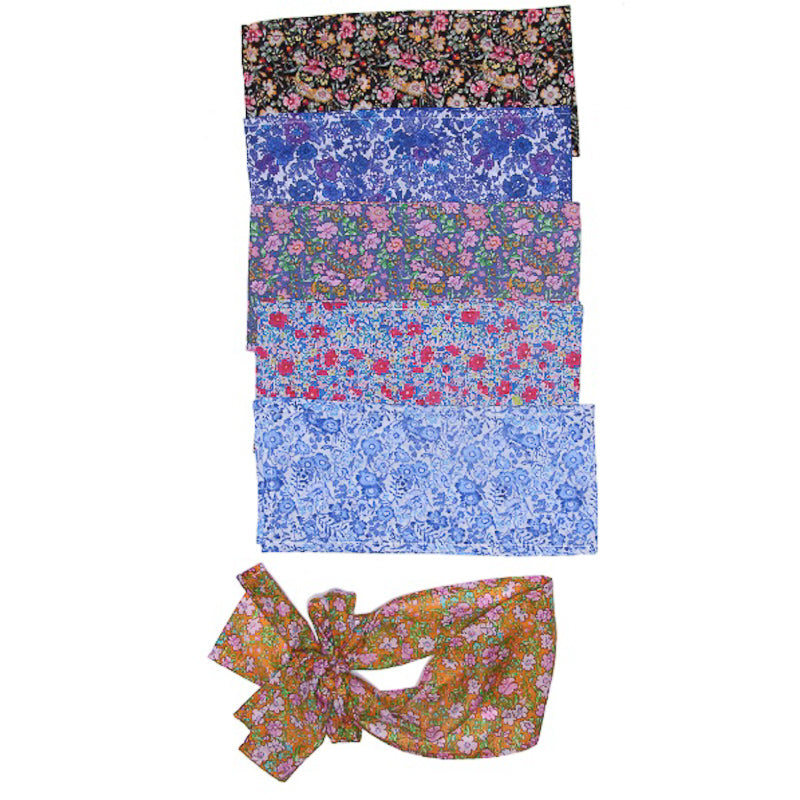 Coco and Ginger Belt/ Sash Blue Aster Accessories Coco and Ginger - Little Styles