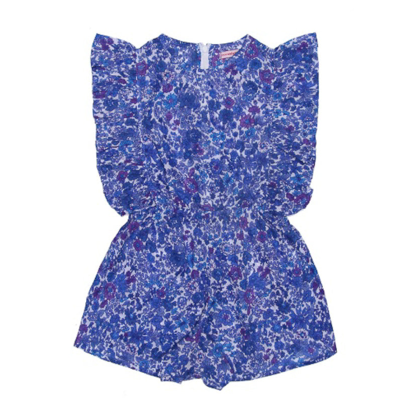 Coco and Ginger Delphine Playsuit Blue Aster Playsuit Coco and Ginger - Little Styles