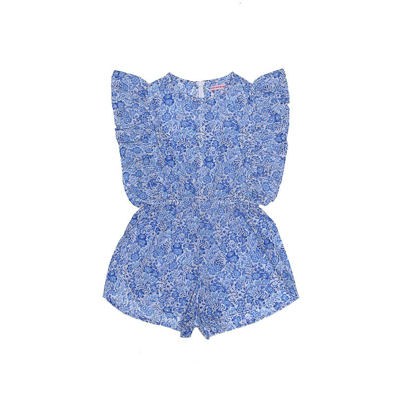 Coco and Ginger Delphine Playsuit Porcelain Indian Flowers Playsuit Coco and Ginger - Little Styles