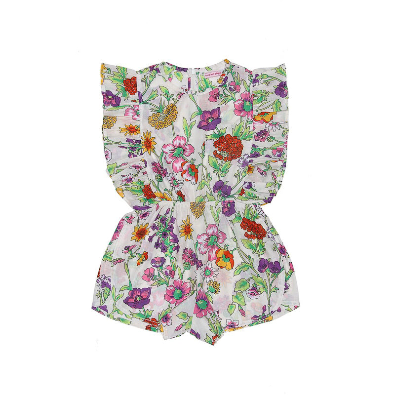 Coco and Ginger Delphine Playsuit Sand Fiore Playsuit Coco and Ginger - Little Styles