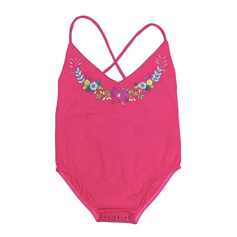 Coco and Ginger Honey Leotard Cerise with Hand Stitch Swimwear Coco and Ginger - Little Styles