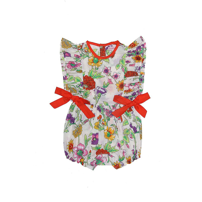 Coco and Ginger Honore Sand Fiore with Paprika Playsuit Coco and Ginger - Little Styles