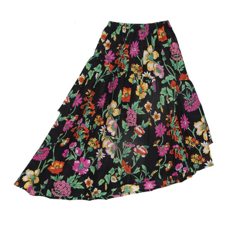 Coco and Ginger Vida Maxi Skirt Midnight Fiore Skirts Coco and Ginger - Little Styles