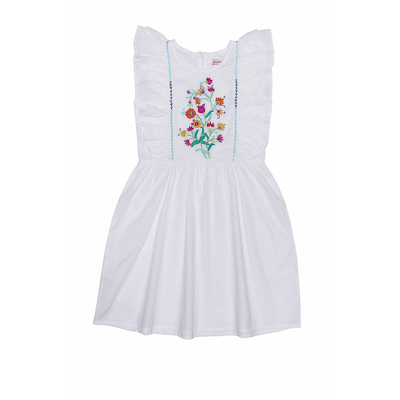 Coco and Ginger Viola Dress Eggshell with Hand Stitch Dresses Coco and Ginger - Little Styles