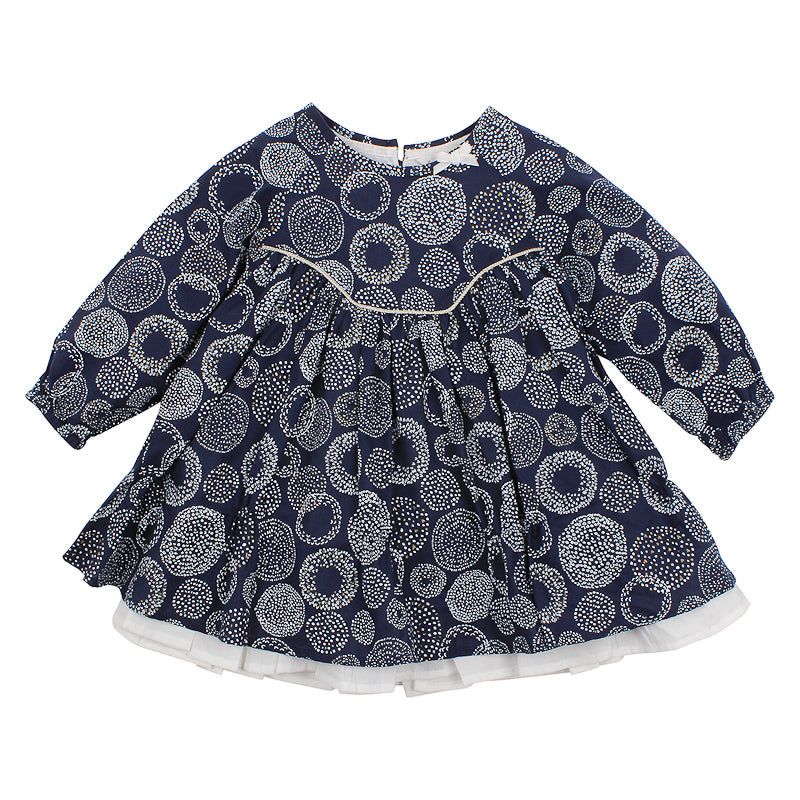 Fox & Finch Baby Confetti Spot Print Dress