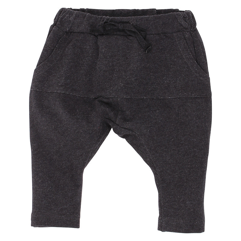 Fox & Finch Baby Cruise Fleece Pant - Black Marle
