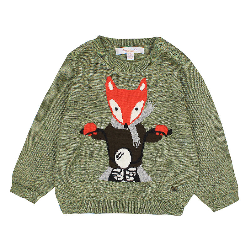 Fox & Finch Baby Cruiser Biker Jumper - Moss