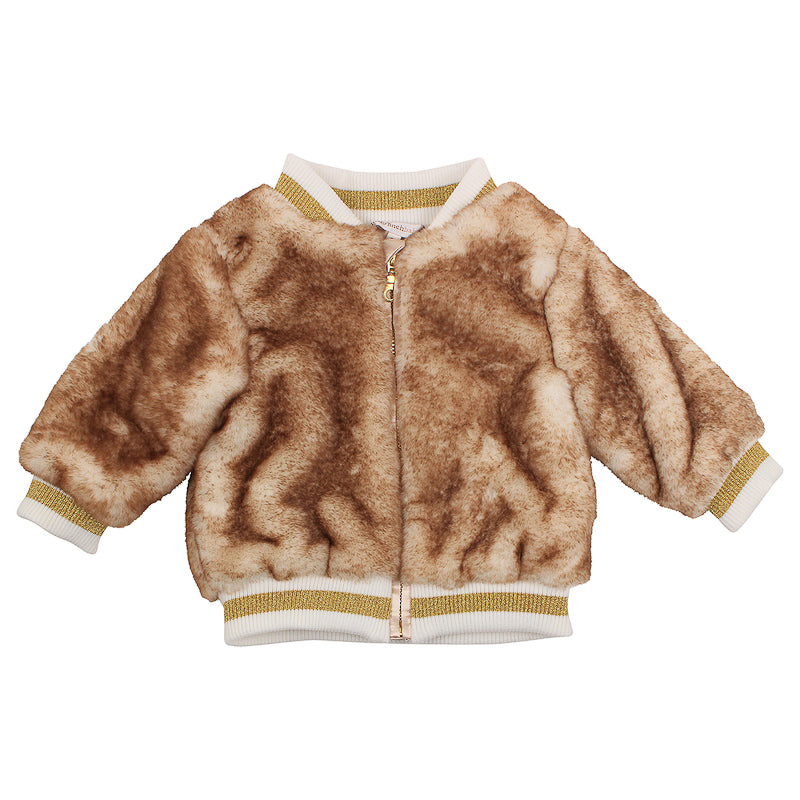 Fox & Finch Baby Fleur Bomber Jacket- Natural