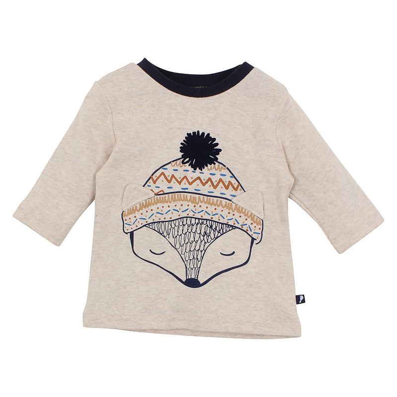 Fox & Finch Baby Hinterland Fox Head Tee - Wheat