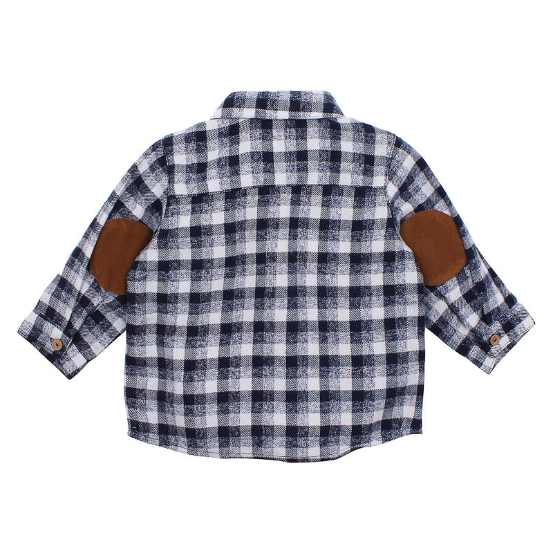 Fox & Finch Baby Hinterland Shirt - Navy Check