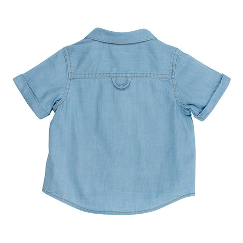 Fox & Finch Baby Little Mr Denim Shirt - Ice Denim