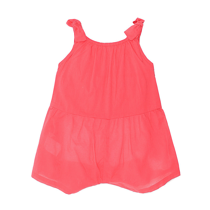 Fox & Finch Baby Meadow Playsuit with Lace Trim - Berry Red Playsuit Fox & Finch Baby - Little Styles