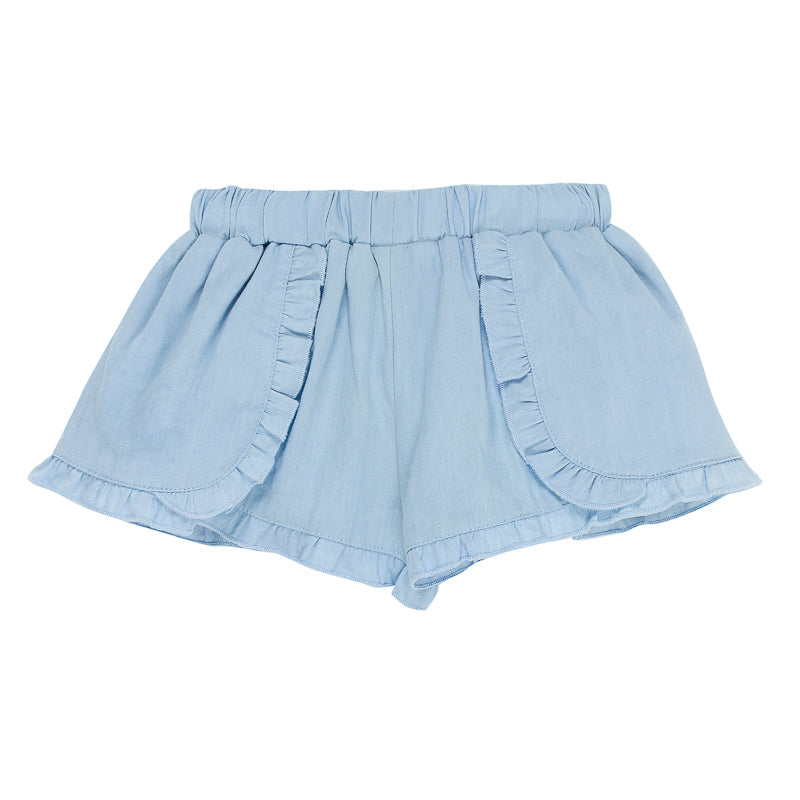 Fox & Finch Baby Tweet Denim Flirty Short - Light Denim Short Fox & Finch Baby - Little Styles