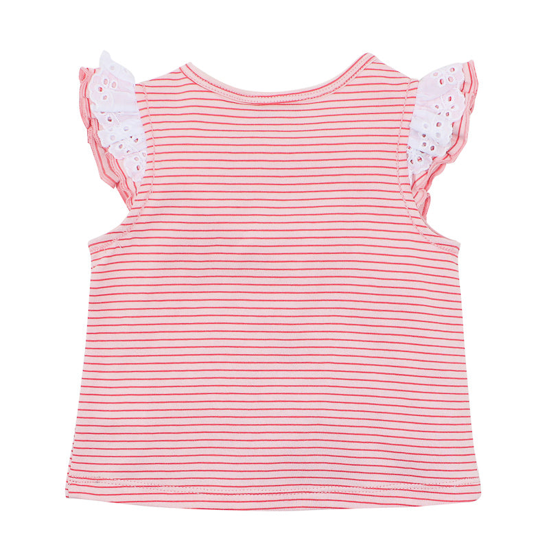 "Fox & Finch Baby Tweet Stripe ""Cat Face"" Top Tops Fox & Finch Baby - Little Styles"