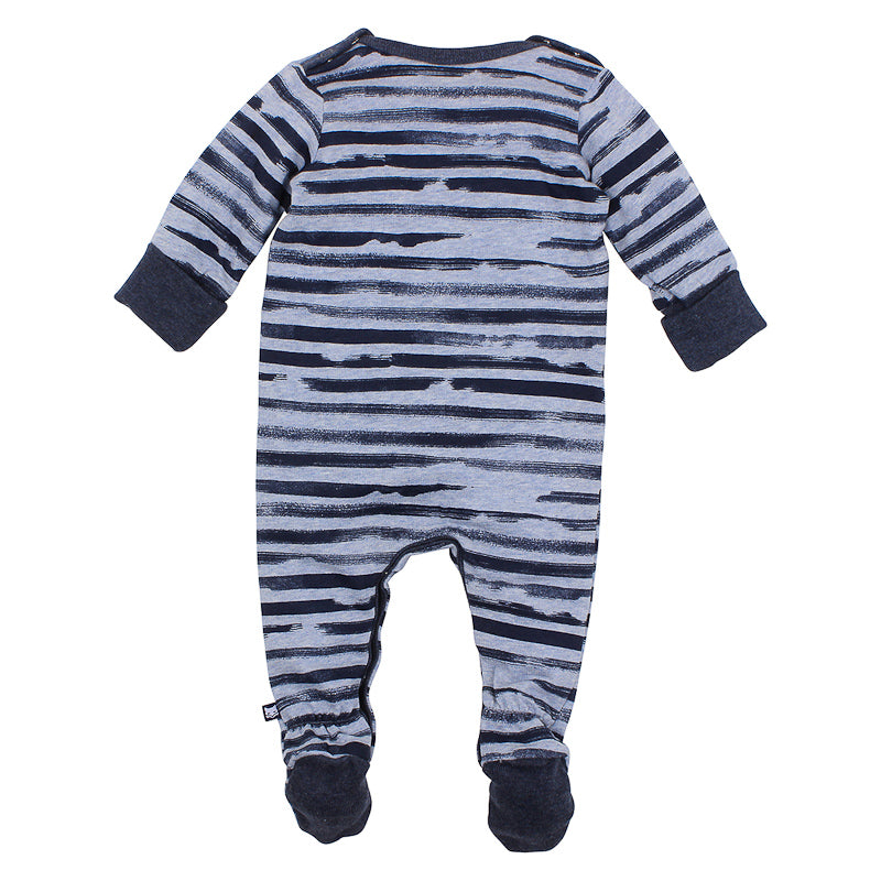 Fox & Finch Baby Woof Stripe Terry Romper