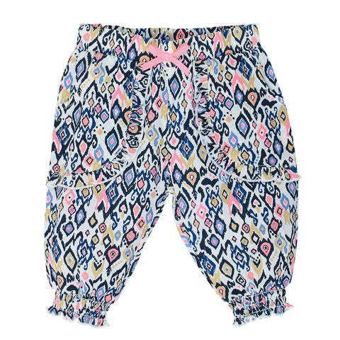 Fox & Finch Baby Kindred Cuffed Pants - Ikat Print