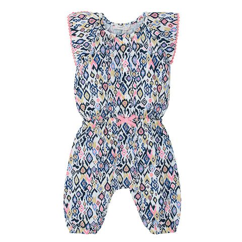 Fox & Finch Baby Kindred Playsuit with Tassels - Ikat Print
