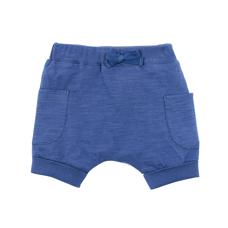 Fox & Finch Baby Moby Short - Blue Storm Shorts Fox & Finch Baby - Little Styles