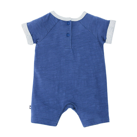 Fox & Finch Baby Moby 'Whale' Short Sleeve Romper - Storm