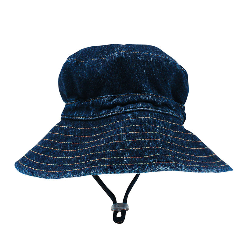 Fox & Finch Baby Safari French Terry Denim Sunhat Hats Fox & Finch Baby - Little Styles