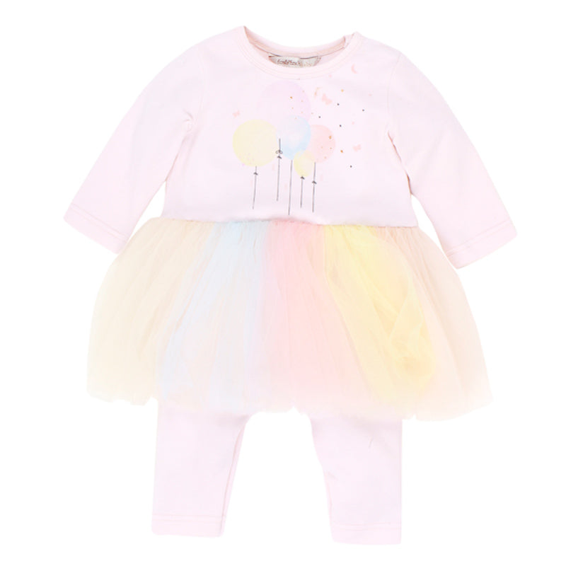 Fox & Finch Baby Twinkle Balloons Tutu Romper - Multi Onesies Fox & Finch Baby - Little Styles